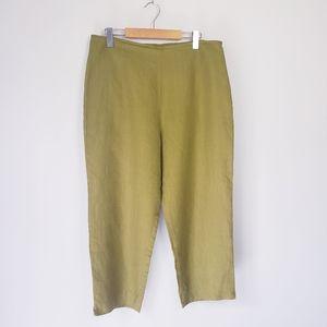 Vintage Edward Linen Bright Green Cropped Pants